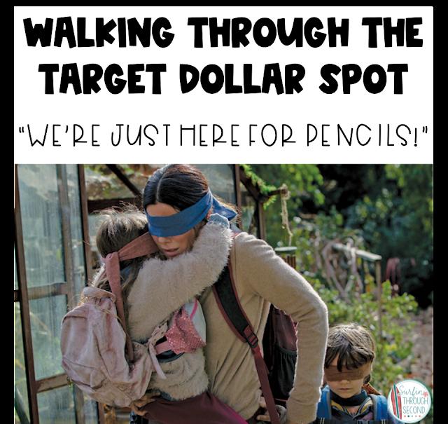 Bird box dollar spot blindfolded save money