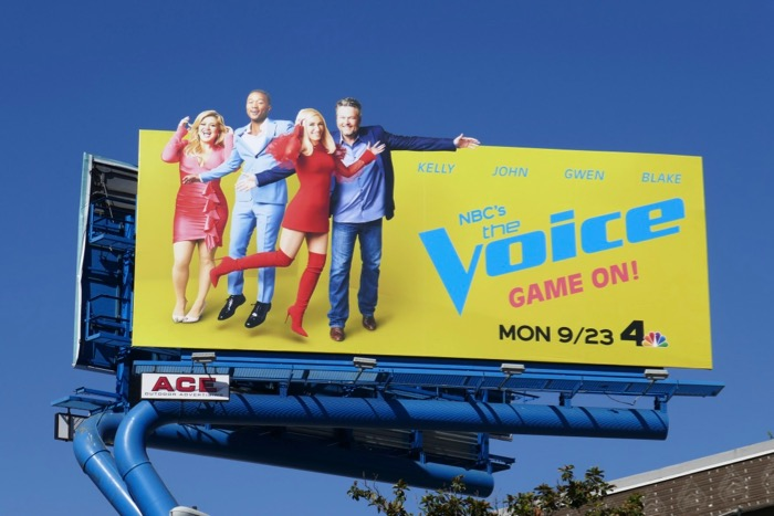 Voice season 17 NBC billboard