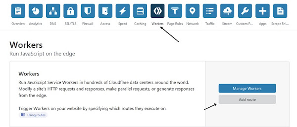workers cloudflare add route