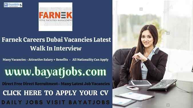 Farnek Careers Dubai Vacancies Latest Walk In Interview