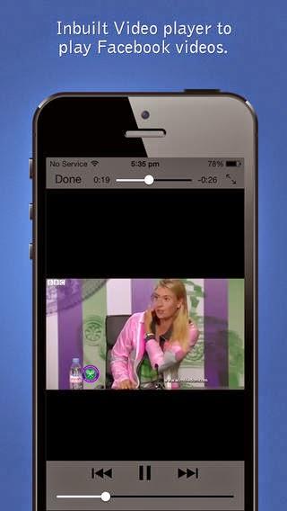 تطبيق مجاني لمشاهدة وتحميل الفيديوهات من الفيس بوك للأيفون والايباد والايبود Video Downloader for Facebook iOS 2.0