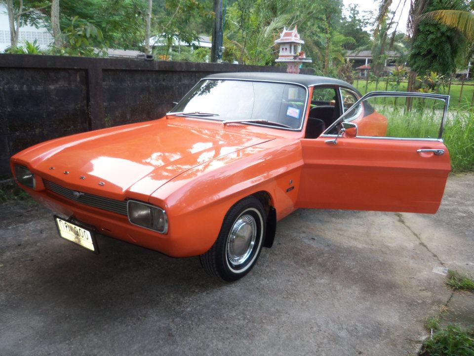 72 retro cars auto parts ford capri xl 1600 1970. Black Bedroom Furniture Sets. Home Design Ideas