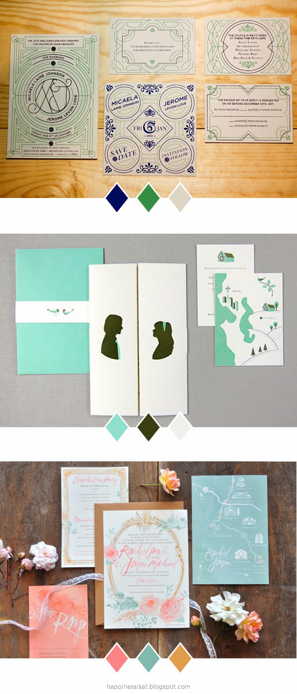 Wedding Stationery Inspiration by fathima kathrada at Happiness is...