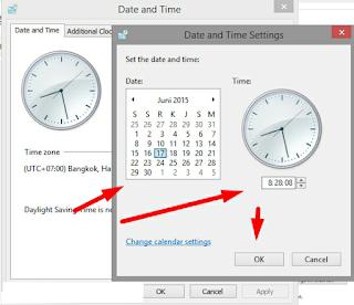 Ubah Tanggal dan Jam di Windows