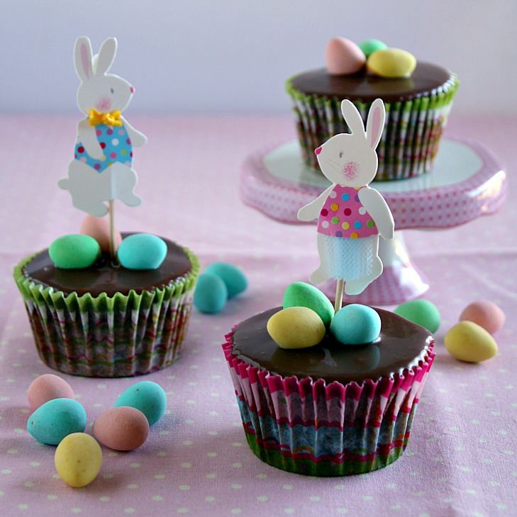 Vanilla Clouds And Lemon Drops: Easter Cupcakes {Double
