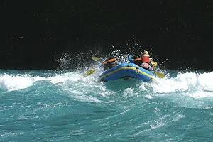Rafting in Aysen, Chilean Patagonia.