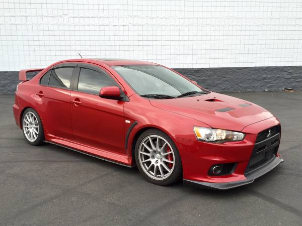 Mitsubishi Lancer Evolution EVO X Rally Red Metallic