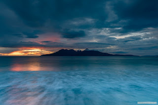 Moody sunset from Eigg