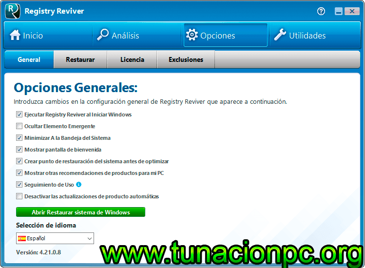 Descargar ReviverSoft Registry Reviver