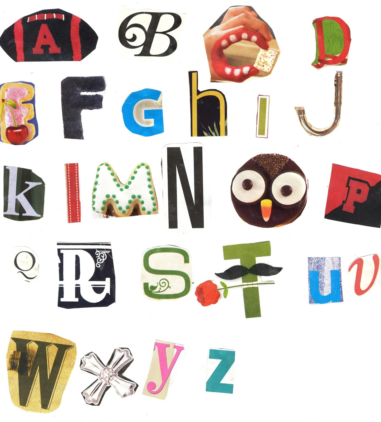 creative writing alphabets letter