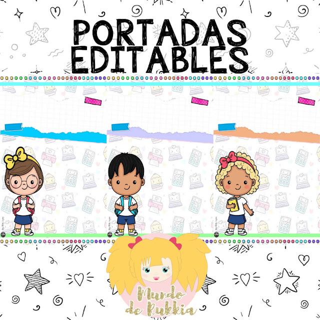 portadas-editables-niños-clipart-imprimir