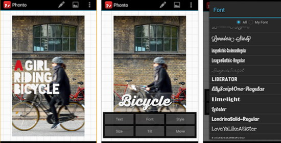 aplikasi phonto untuk edit tulisan foto di android