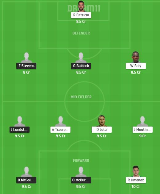 SHF vs WOL (Sheffield United vs Wolves) Dream11 Fantasy Football Team
