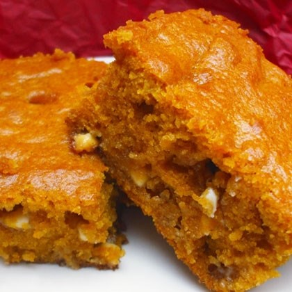 Pumpkin White Chip Brownies