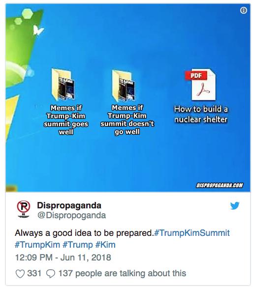 June 11 @dispropoganda Kim and Trump summit. Be prepared