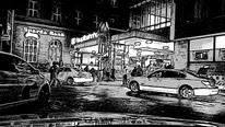 Taxi München Bahnhof nachts Nordseite