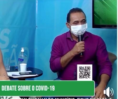 Salgadinho confirma 1º caso de Covid -19 e prefeito diz que melhor vacina é o isolamento social - Veja o vídeo