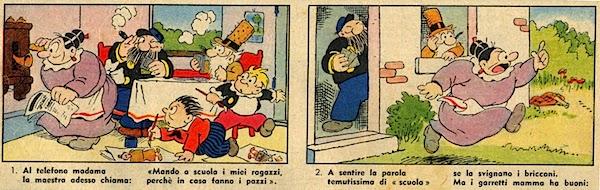 Bibì, Bibò e Capitan Cocoricò sul Corriere dei Piccoli