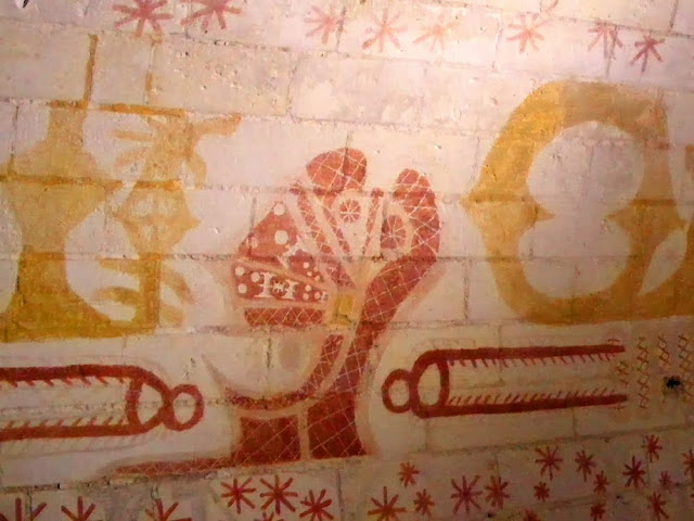 16C Wall paintings by Ludovico Sforza in his prison cell, Loches, Indre et Loire, France. Photo by Loire Valley Time Travel.