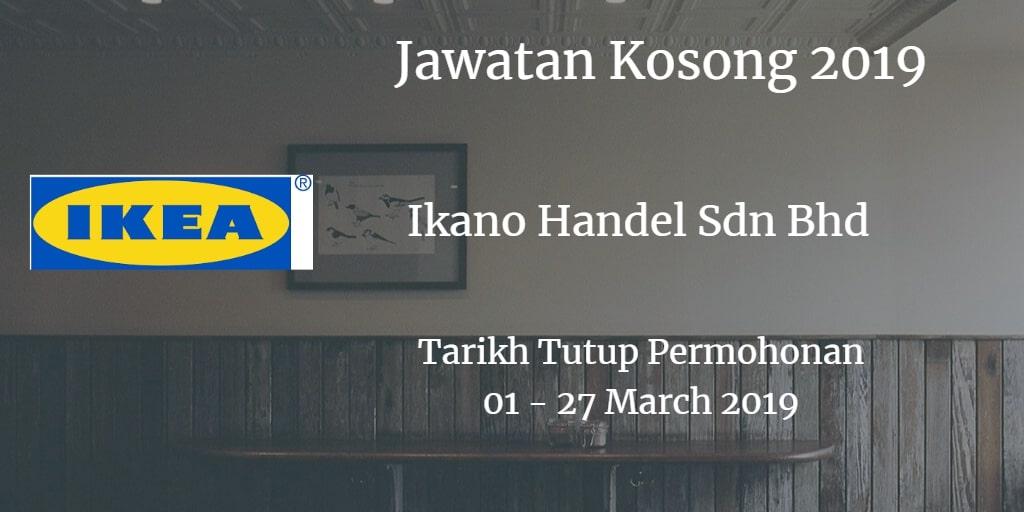 Jawatan Kosong IKEA 01 - 27 March 2019