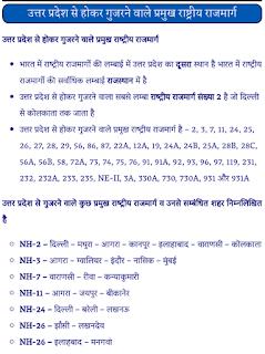 उत्तर प्रदेश से गुजरने वाले राष्ट्रीय राजमार्ग पीडीऍफ़ पुस्तक | Uttar Pradesh Se Gujarne Wale Pramukh Rashtriya Rajmark PDF Book In Hindi