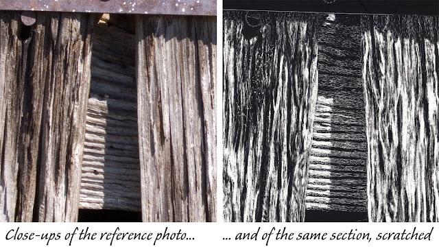 close ups of the barn wood