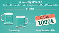 Logo Vinci gratis set tazze personalizzate e buono spesa da 1.000 euro