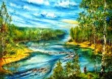original oil painting on canvas Shoals