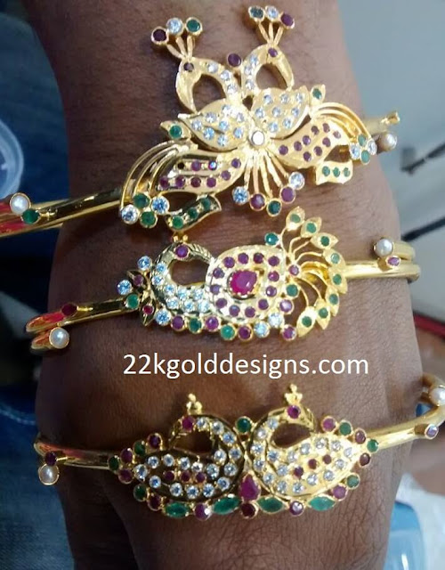 Peacock Design Gold Bracelet gallery
