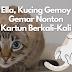 Ella, Kucing Gemoy Yang Doyan Habiskan Waktu Menonton Kartun.