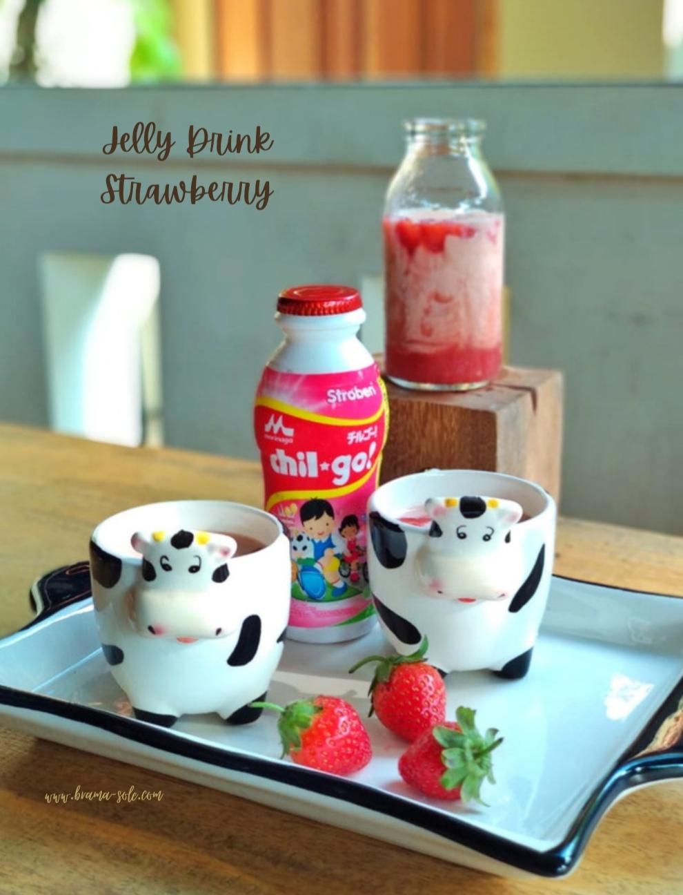 Strawberry Milk Jelly Drink