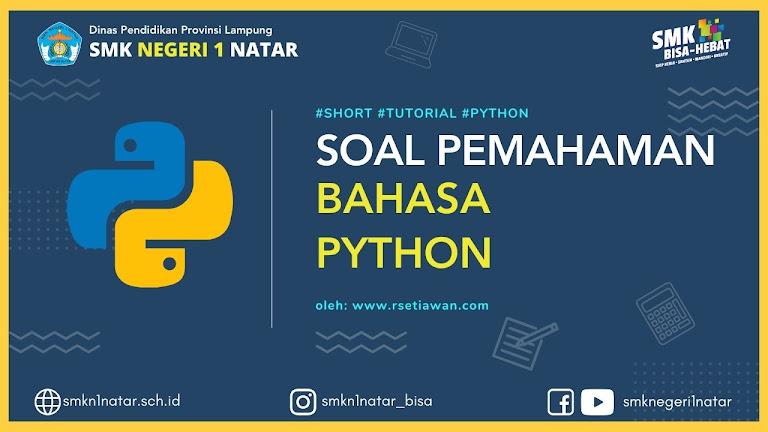 soal bahasa pemrograman python