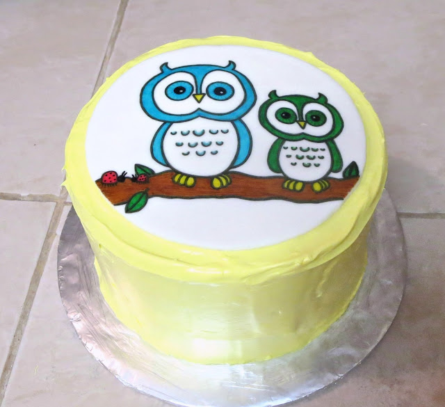 Owls & Ladybugs Teacher Appreciation Cake 1