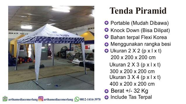 Spesifikasi Tenda Piramid