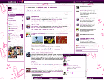 Tema Purpled out (facebook purple/pink theme)