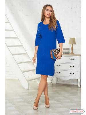 vestidos color azul de coctel