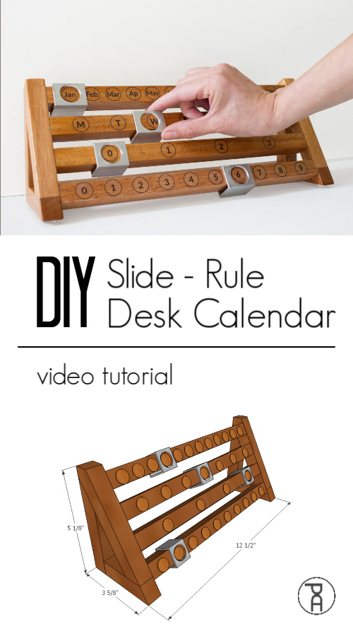 how to woodworking wood metal modern DIY desk calendar video tutorial