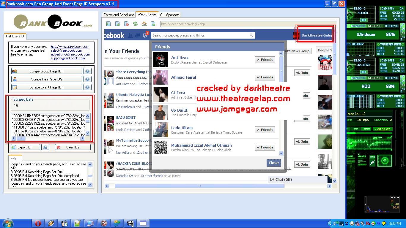 Facebook Group Fan And Event User ID Scraper v2 1 Full by