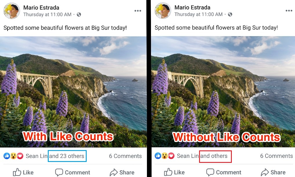 Facebook commence à tester la suppression du nombre de Likes