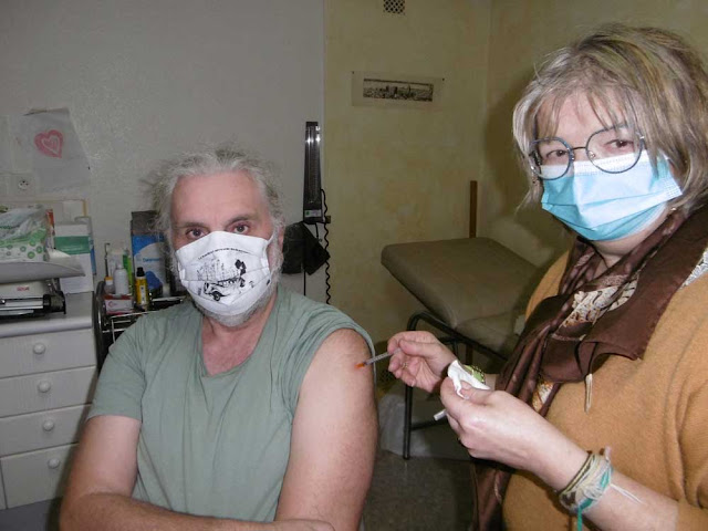 Getting Covid19 vaccination at the GP's surgery, Indre et Loire, France. Photo by Loire Valley Time Travel.