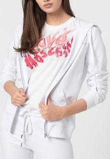 Love Moschino - Дамски Панталон с памук и суитшърт