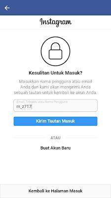 cara mengatasi lupa password Instagram dari hp android