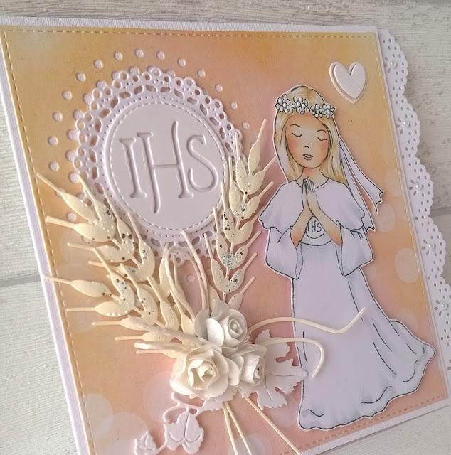 Komunijne kartki dla dziewczynek
