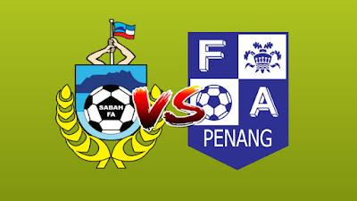 Live Streaming Sabah vs Penang FA Piala Malaysia 14.9.2019