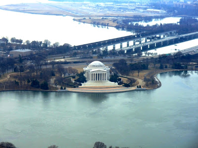 Photos taken from the top of the Washington Monument