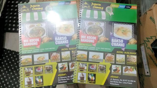 Buku Daftar Menu Restoran