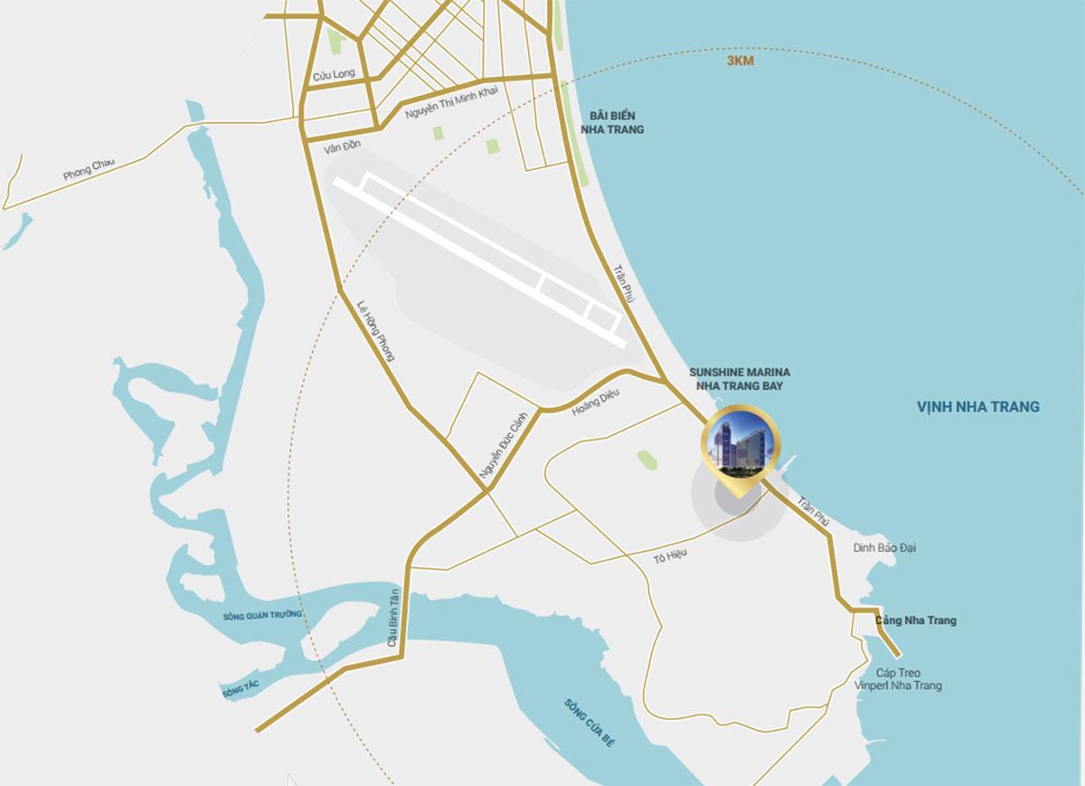 Vị trí Condotel Sunshine Maria Nha Trang Bay