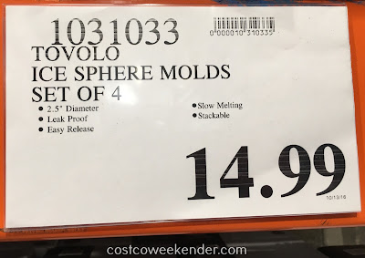 Deal for Tovolo Sphere Ice Molds (set of 4) at Costco