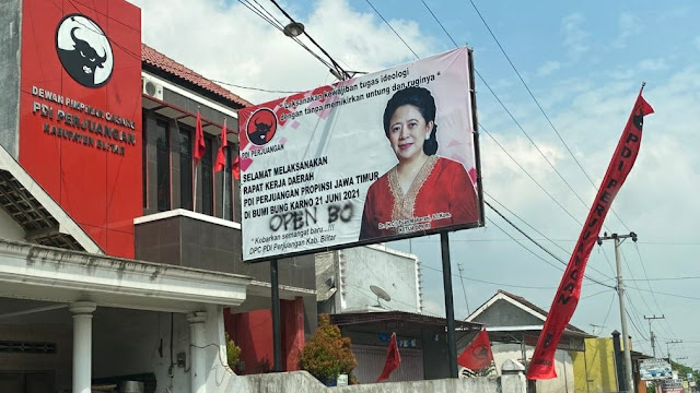 Baliho Puan Maharani di Kantor DPC PDIP Diserang Vandalisme, Ada Tulisan 'Open BO'