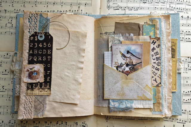 Junk journal z literami